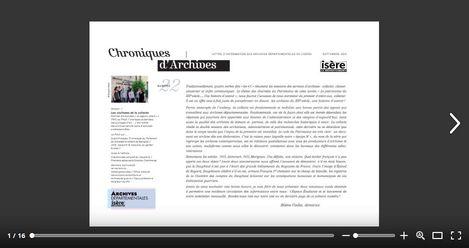 Feuilleter Chroniques d'Archives n22