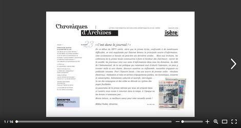 Feuilleter Chroniques d'Archives n23