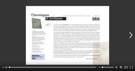 Feuilleter Chroniques d'Archives n25
