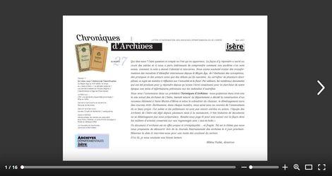 Feuilleter Chroniques d'Archives n27