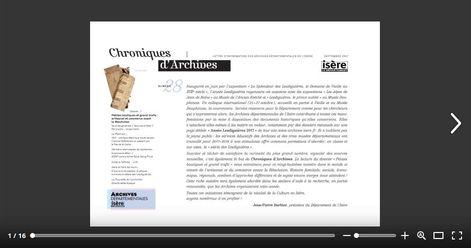 Feuilleter Chroniques d'Archives n28