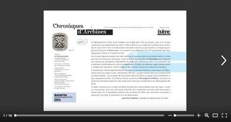 Feuilleter Chroniques d'Archives n29