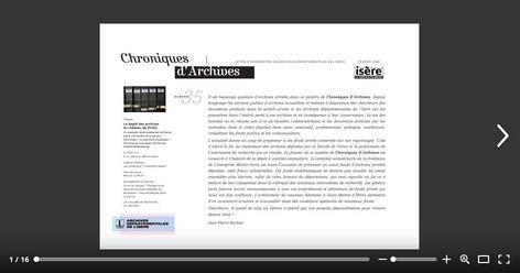 Page de garde de Chroniques d'Archives numéro 35