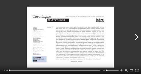 Feuilleter Chroniques d'Archives 7