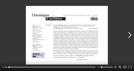 Feuilleter Chroniques d'Archives 8