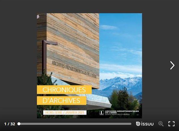 Chroniques d'Archives hors série sur le bâtiment des Archives départementales de l'Isère inauguré en 2021